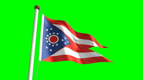 Ohio flag Animation