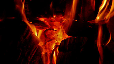 Embers in the fireplace Stock Video Footage