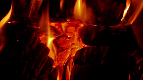 Embers in the fireplace Footage