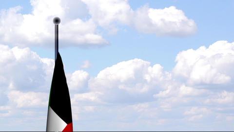 Animated Flag of Kuwait Stock Video Footage