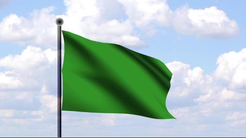 Animated Flag of Libya / Libyen Stock Video Footage