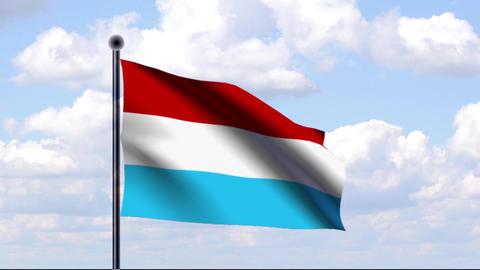 Animated Flag of Luxembourg / Luxemburg Animation