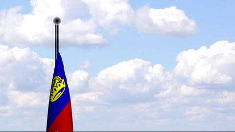 Animated Flag of Liechtenstein Stock Video Footage