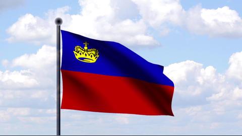 Animated Flag of Liechtenstein Animation