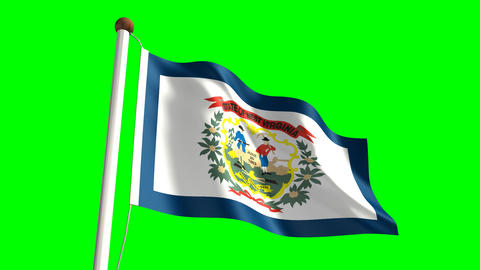 West Virginia Flag Stock Video Footage