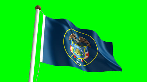 Utah flag Animation