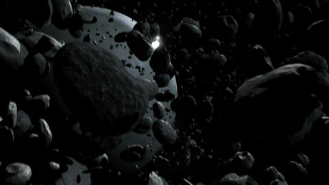 Asteroid Field Stock Video Footage
