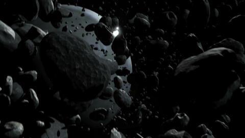 Asteroid Field Stock Video Footage