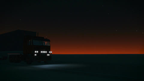 Truck on the road Animation