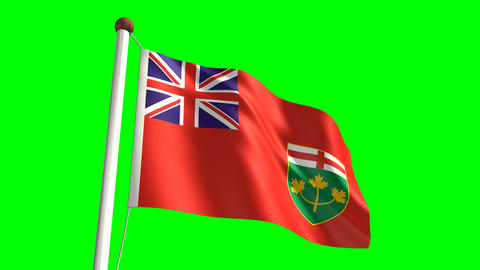 Ontario flag Stock Video Footage