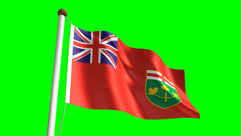 Ontario flag Animation