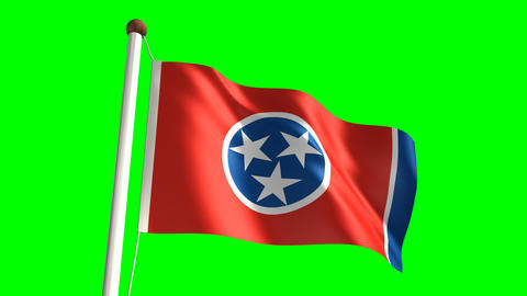 Tennessee flag Stock Video Footage