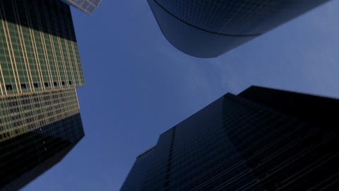 panorama of group skyscrapers Stock Video Footage