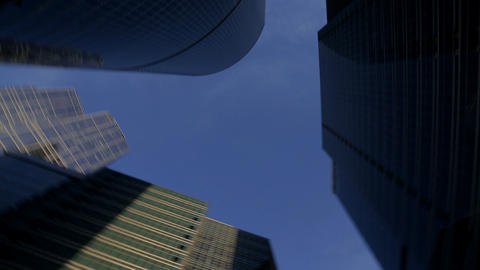 panorama of group skyscrapers Footage