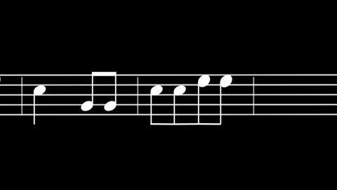 Music Sheet 05-alpha Stock Video Footage