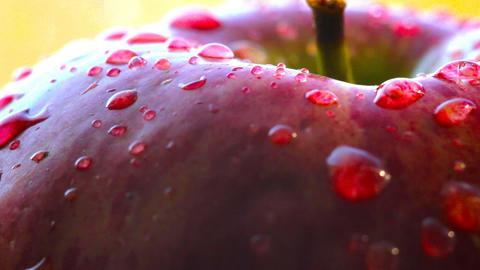 Rotating red apple macro Stock Video Footage