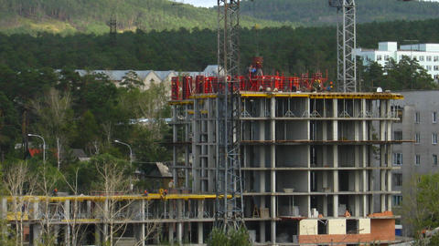 Timelapse of the construction site Stock Video Footage