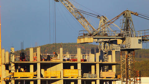 Construction site timelapse Stock Video Footage