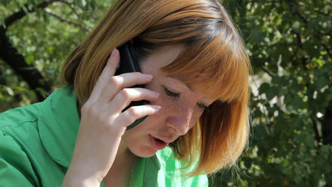 Pretty Young Girl Talking On Phone stock footage