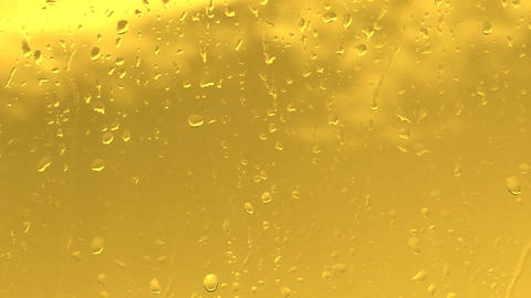 rain water drops on the golden surface Footage