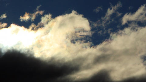 Timelapse of dramatic sky fast motion Stock Video Footage
