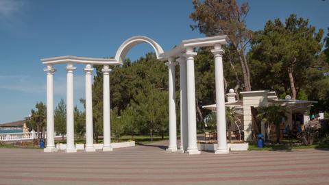 Arch in Gelendzhik hyperlapse Stock Video Footage