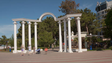 Arch in Gelendzhik hyperlapse Footage