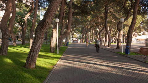 Gelendzhik city walk hyperlapse Footage