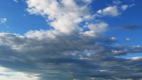 Time lapse of fast moving overcast clouds. No bird Stock Video Footage