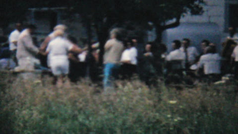 Couples Dancing At Family Summer Picnic 1962 Vinta Stock Video Footage