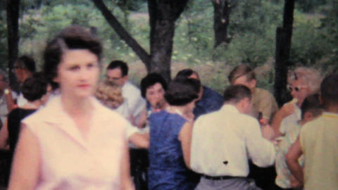 Family Summer Picnic 1962 Vintage 8mm film Stock Video Footage