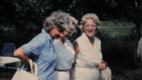 People Enjoying A Summer Picnic-1962 Vintage 8mm Stock Video Footage