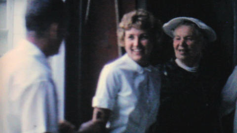 Pretty Blonde Lady Smiling At Camera 1962 Vintage Stock Video Footage