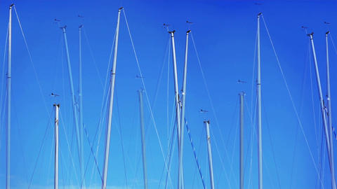 yacht masts Stock Video Footage