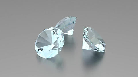 3D Diamonds - Animation stock footage