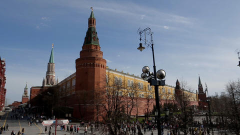 Moscow kremlin panorama Stock Video Footage
