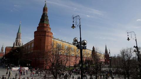 Moscow kremlin panorama Stock Video Footage