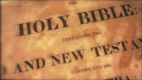 Bible 02 Stock Video Footage
