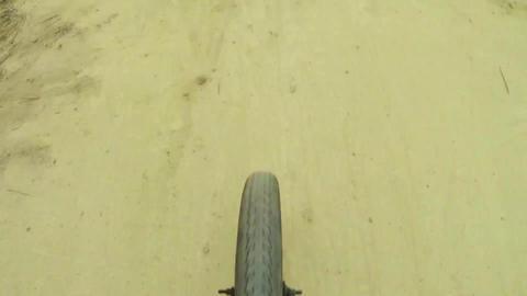 BMX biker jumping dirt jumps Stock Video Footage
