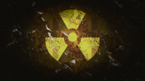 Radioactive Sign Stock Video Footage