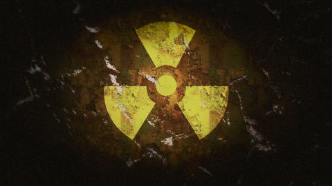 Radioactive Sign Stock Video Footage