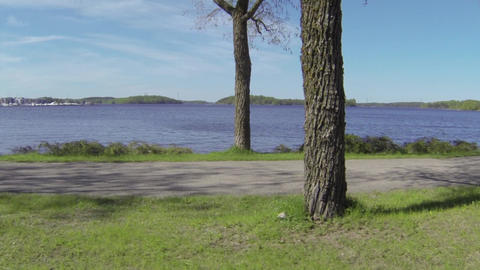 trip by the lake Stock Video Footage