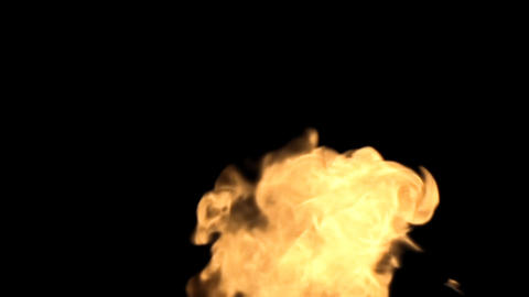 Fire in the alpha channel HD Stock Video Footage