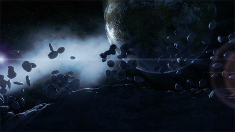 Rocks in Space Stock Video Footage