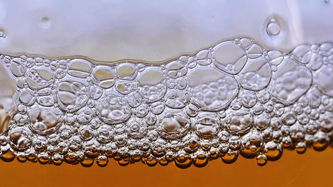 Beer bubbles HD Stock Video Footage
