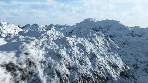 Mountain range 3 Stock Video Footage