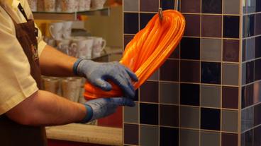 Niagara Falls Candy Lollipop Making By Hand Footage
