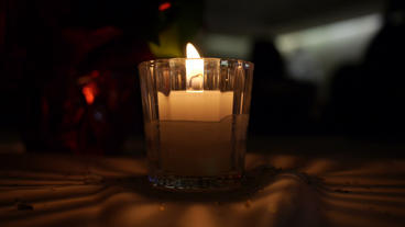 Decorative Candle Stock Video Footage