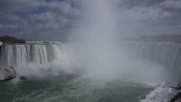 Niagara Falls Horseshoe Falls Slow Motion 01 - 25P Footage