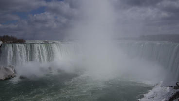 Niagara Falls Horseshoe Falls Slow Motion 01 - 25P Stock Video Footage
